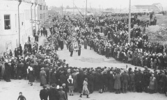 Перезахоронение генерала Ефремова 28 сентября 1952г. Вязьма