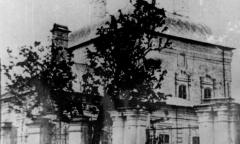 Вид Спасопреображенской церкви в Вязьме