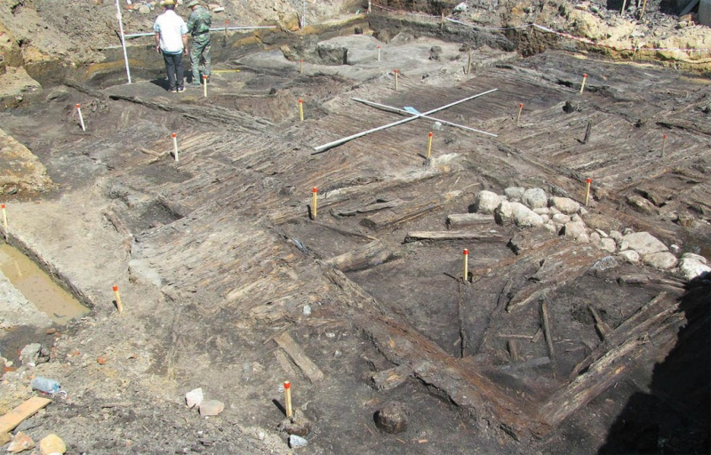 Определение планировки древнего городища