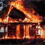 Сгорела деревня Вертехово