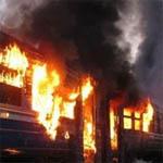 В Вяземском районе загорелся дизельный поезд