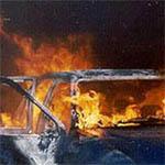 На Заслонова сожгли машину
