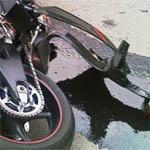 На Полины Осипенко иномарка сбила мотоциклиста