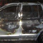 В Вязьме сожгли две машины