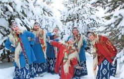 Новогодние забавы в Хмелите