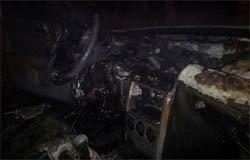 В Панино сожгли машину и гараж