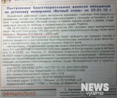 Н.И. Басов главный меценат Вязьмы