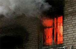 При пожаре на ул. Ленина пострадал человек