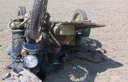 Мотоциклист попал под фуру и потерял ногу