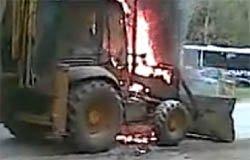 На Полины Осипенко сгорел трактор