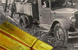 Под Вязьмой обнаружены грузовики, набитые золотом