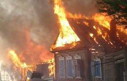Пожар в деревне Минино Вяземского района