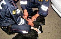 На Вязьма-Брянской задержан пьяный вооруженный водитель без прав [видео]