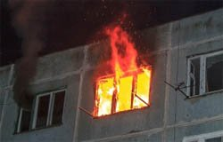 На Московской при пожаре сгорел пенсионер