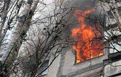 Пожар в 12-ти этажном доме на Московской