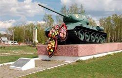 Памятник-танк Т-34 в Вязьме