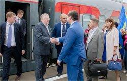 По пути в Смоленск в Вязьму заехал Жириновский