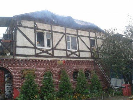 В Панино горела гостиница Хуторок