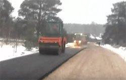 Вязьма укладка асфальта в снег [видео]