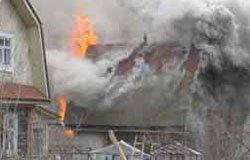 Пожар на улице Мира