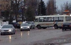 ДТП рейсового автобуса и легкового автомобиля на ул. 25-го Октября
