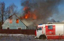 При пожаре в деревне Семеновское погиб человек