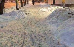 В Вязьме не чистят тротуары