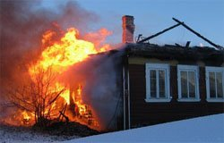 В вяземском районе произошло два пожара
