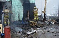 В Вязьме горело административное здание по ул. Песочной