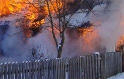 15 февраля в Шуйском горел дом