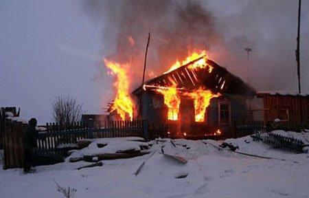 Вязьма пожар жилого дома Трудовой проезд