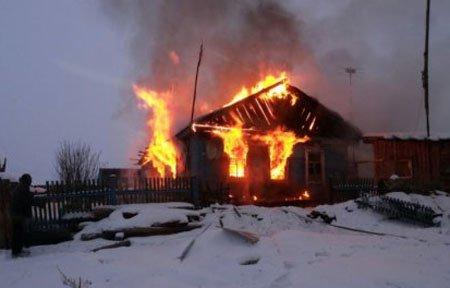 Пожар в деревне Богородицкое вяземского района