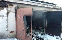 На Московской горел гараж