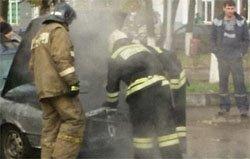 На Московской загорелся автомобиль