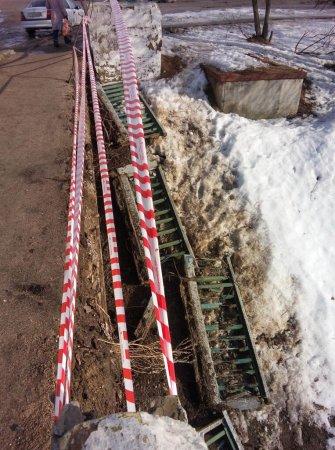 На Смоленском мосту обрушились перила