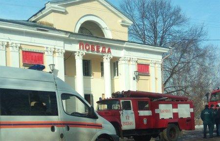 В Вязьме горел кинотеатр Победа