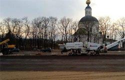 На Советской площади начался ямочный ремонт