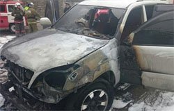 На улице Южной горел автомобиль, есть пострадавший
