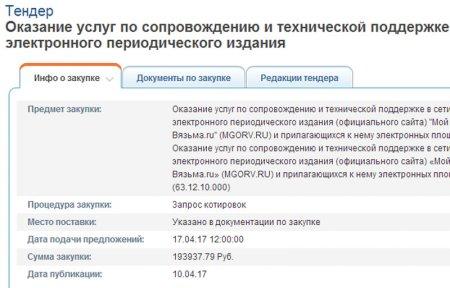 Сколько стоит содержание MGORV.RU налогоплательщикам?