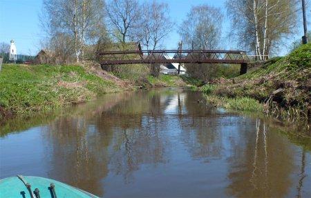 Река Бебря, весенний сплав по реке