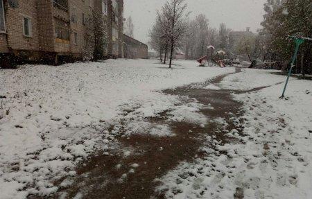 В Вязьме идет снег
