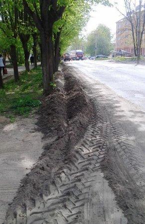 Благоустройство зелёной зоны по ул. Красноармейское Шоссе