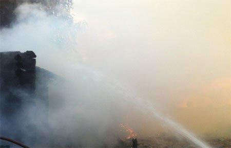 Вчера в Андрейково горел склад
