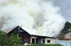 На улице 1-го Марта горел жилой дом