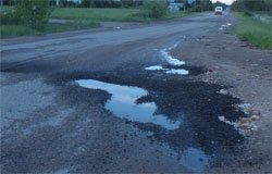 Администрация «отремонтировала» дорогу от Московской до ГОКа