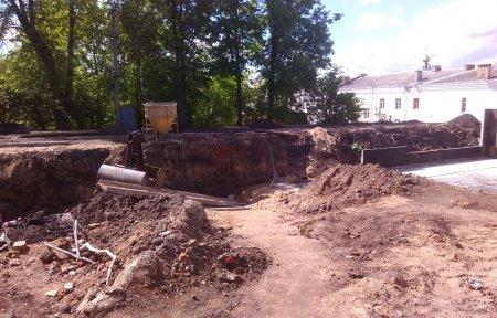 На Соборном холме застроили место раскопок