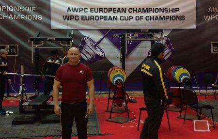 Вязьмич Владимир Капуза стал чемпионом Европы по жиму штанги лежа!