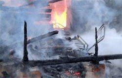 В Мясоедово сгорела дача, имеется пострадавший