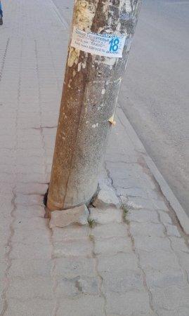 На Комсомольском мосту рухнул столб