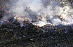 В деревне Каменная Гора сгорела дача